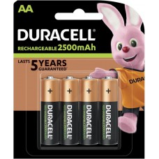 Batteries DURACELL AA Rechargeable 2500 mAh Recharge Ultra K4