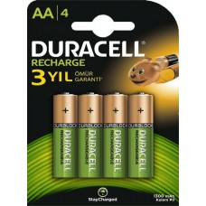 Batteries DURACELL AA Rechargeable 1300 mAh Recharge K4