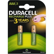 Batteries DURACELL AAA Rechargeable 750 mAh Recharge Plus K2