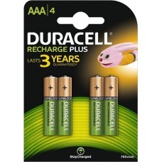 Batteries DURACELL AAA Rechargeable 750 mAh Recharge Plus K4