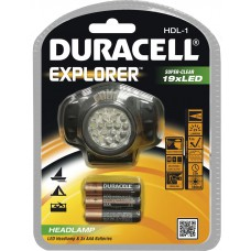 Flashlight DURACELL Explorer HDL-1 + 3xAAA Baterries - LED Headlamp