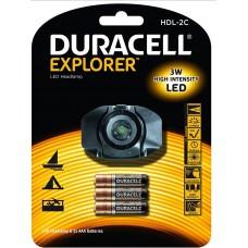 Flashlight DURACELL Explorer HDL-2C + 3xAAA Baterries - LED Headlamp